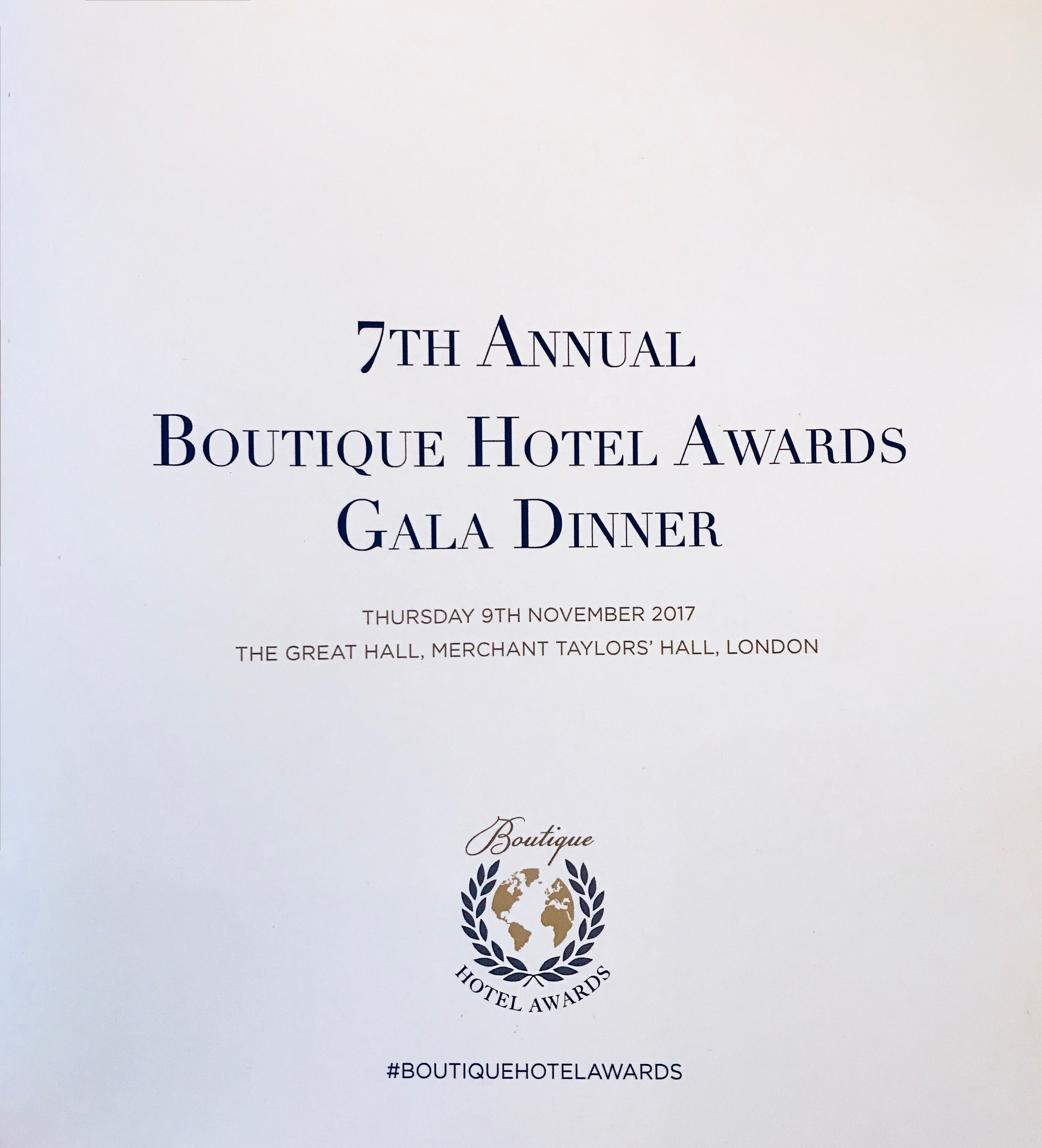 Visoanska sponsor Boutique hotel awards