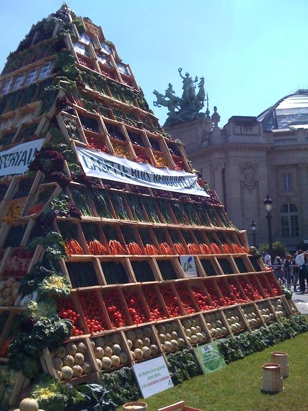 Pyramide de fruits et légumes